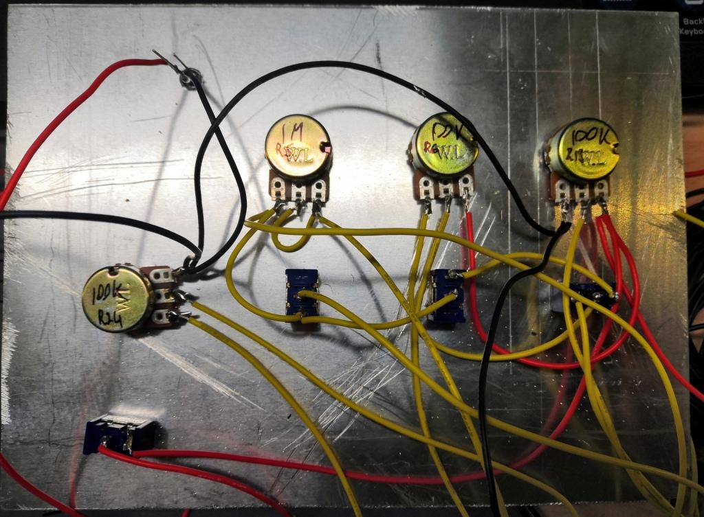Variable resistors wiring